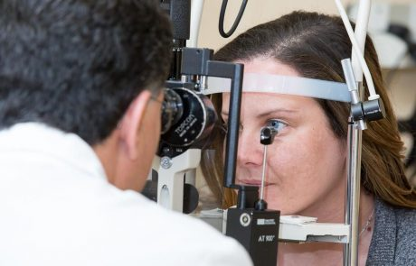 Eye exam in New Jersey Eye Center. Doctor is examining patient