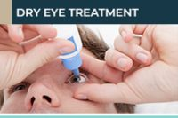 A patient using eye drops to recover from dry eye