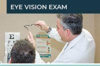 Dr. James Dello Russo checking patient glasses