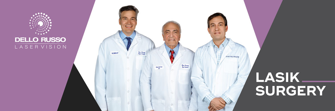 Laser vision correction center specializes in LASIK eye surgery. Lasik performed by world renowned eye surgeon & pioneer of lasik technologies, Dr. Dello Russo
