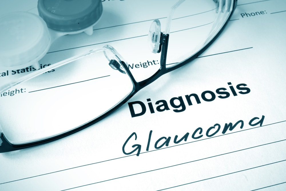 Sheet with glaucoma symptoms diagnosis